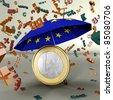 Rating EURO Rettungsschirm - stock photo