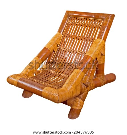 Rattan armchair isolated on white. Clipping path included.