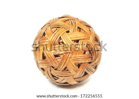 rattan ball - stock photo