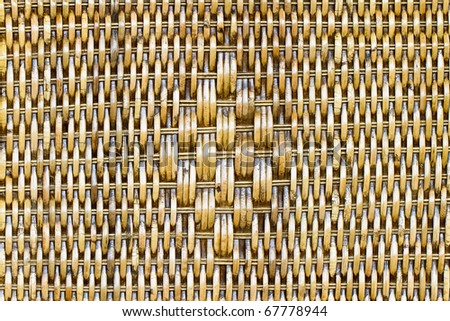 Rattan is used to weave baskets and other. - stock photo