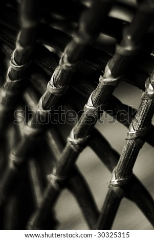 rattan ornament. low DOF