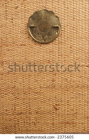 Rattan panel - stock photo