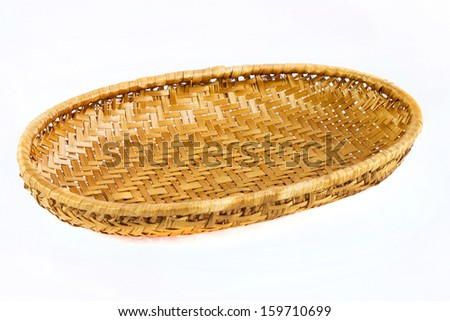 rattan Products from Thailand on a white background - stock photo