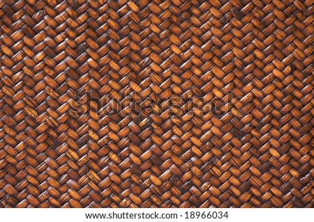 Rattan Weave Background Macro Image - stock photo