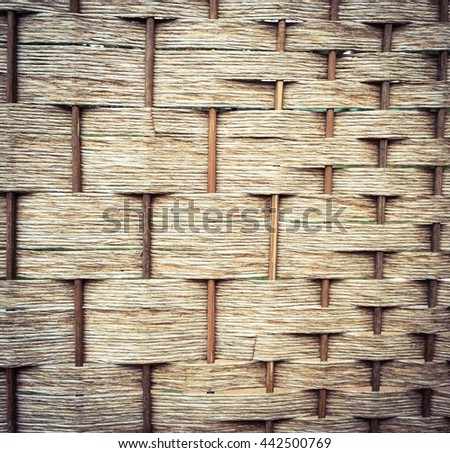 Rattan weave for background