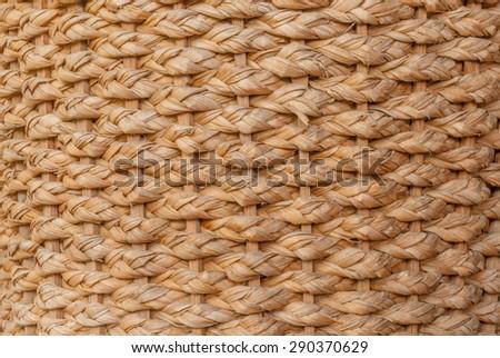 Rattan weave handmade crafts from Thailand, basketwork, wicker,wicker baskets - stock photo