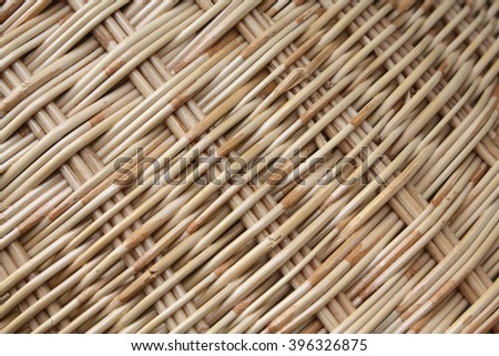 Rattan Weaving Texture Background material from Natural