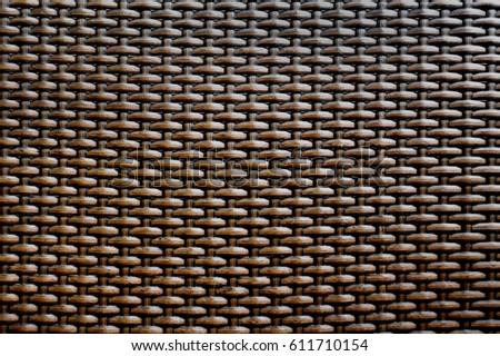 Rattan / Wicker seamless pattern, vector background