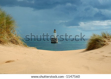 Rattray Head Lighthouse - stock photo