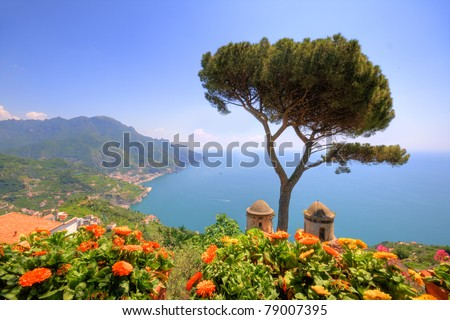 Ravello, amalfi coast, naples, italy - stock photo