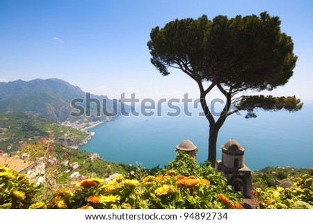 Ravello, Amalfi Coast, Naples, italy. - stock photo
