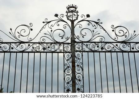 Ravenna, antique wrought iron gate - stock photo
