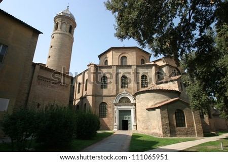 Ravenna, Italy, Basilica of Saint Vitale, Unesco World Heritage site - stock photo