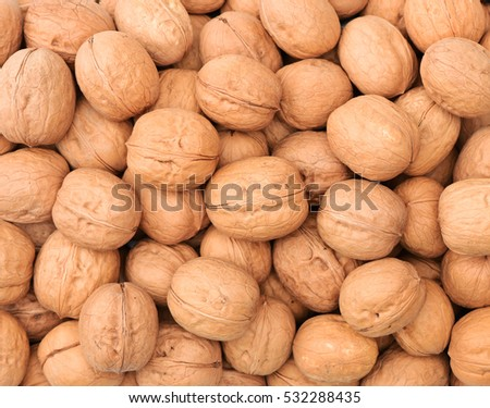 raw and dried walnut as a texture