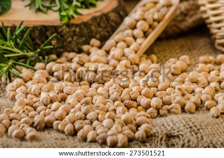 Raw and healthy chickpeas, Simple but delicious legume used in Middle Eastern cuisine - stock photo
