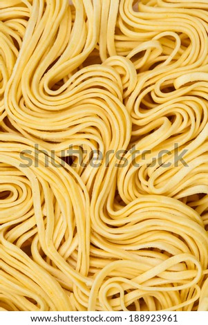 Raw asian noodle close-up texture  - stock photo