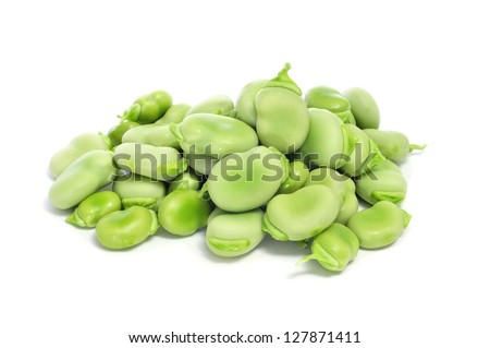 raw broad beans - stock photo