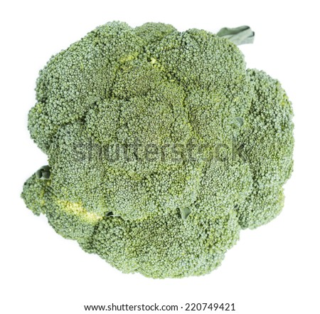 Raw Broccoli isolated on pure white background - stock photo
