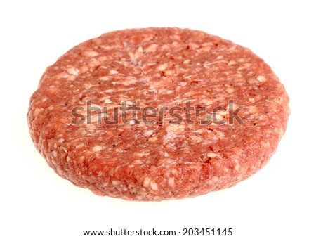 Raw Burger Beef Patty - stock photo