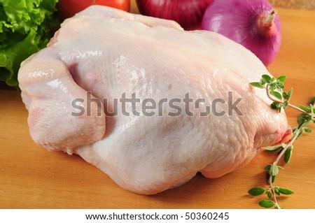 Raw chicken. - stock photo