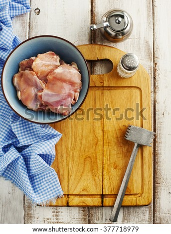 Raw chicken fillet - stock photo