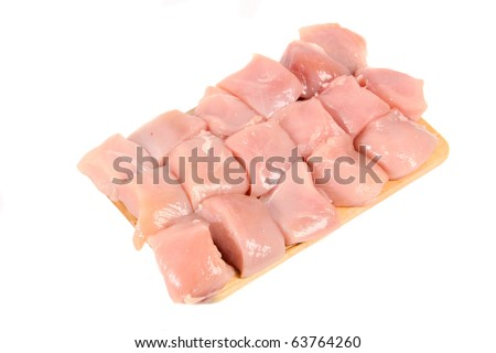 raw chicken meat on plate - stock photo