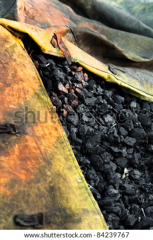Raw coal ready for the winter - stock photo