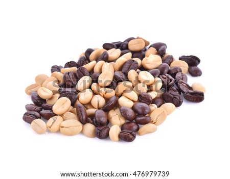 Raw coffee beans,Coffee beans
