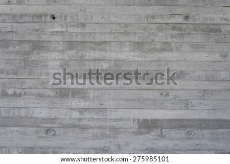 Raw concrete wall stamp with construction wooden for lookl ike wood pattern - stock photo