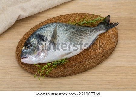 Raw dorado - fish ready for cooking