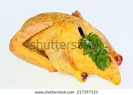 Raw duck male ready to cook from a farm - stock photo
