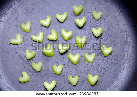 raw fresh celery - stock photo