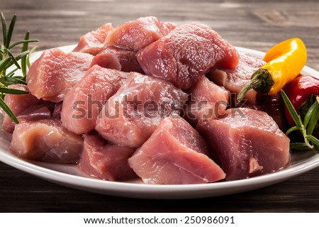 Raw, fresh meat  - stock photo