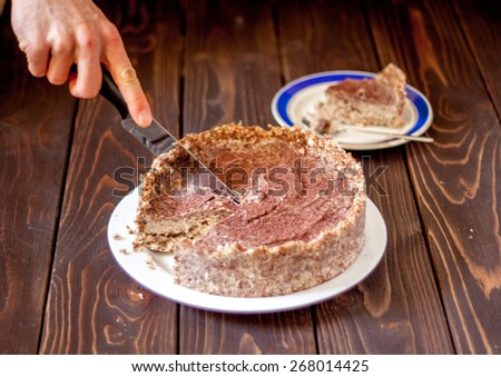 raw healthy cake - stock photo