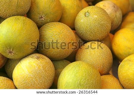 raw  heap on market show tray - stock photo