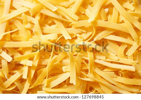Raw, long tagliatelle pasta