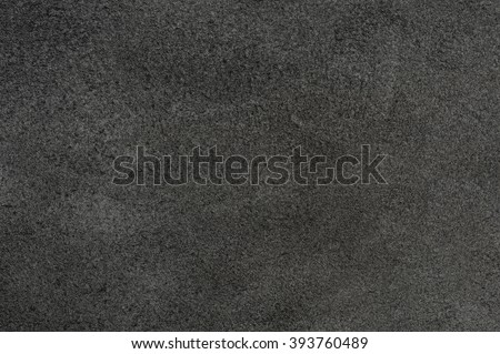 raw material background, closeup details of black leather texture - stock photo