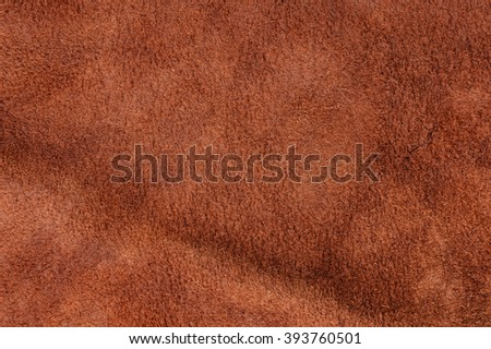raw material background, closeup details of brown leather texture - stock photo