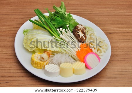 Raw material for boil food - stock photo