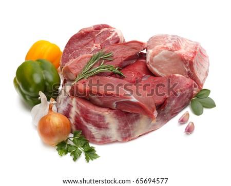 raw meat assortment - stock photo