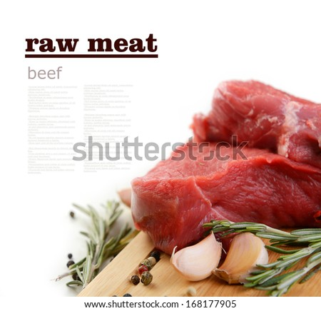 raw meat, beef - stock photo