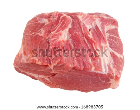 Raw meat isolated on the white background