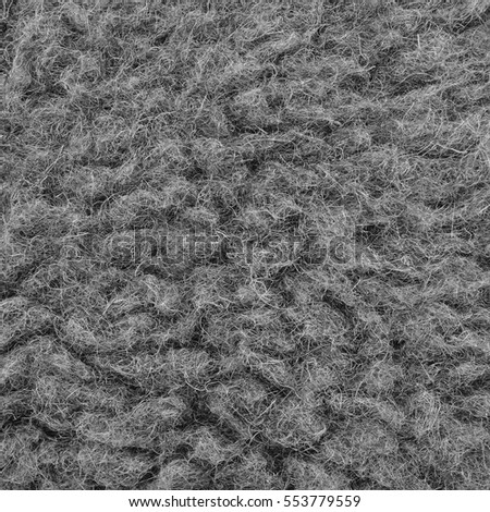 Raw Merino Sheep Wool Macro Closeup, Large Detailed Grey Textured Pattern Copy Space Background, Vertical Gray Texture Studio Shot