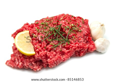 raw minced meat - stock photo