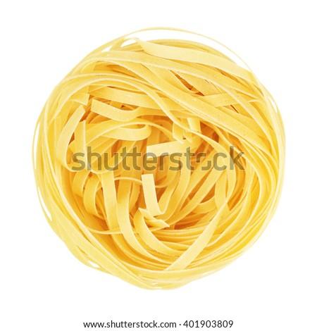 Raw Nest Pasta - stock photo