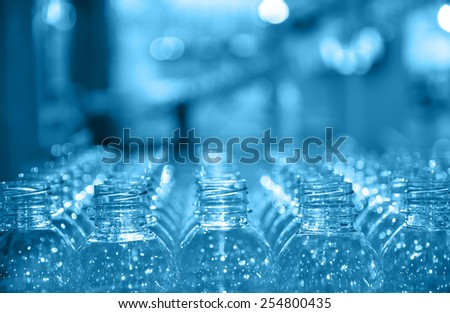 raw of bottle - stock photo