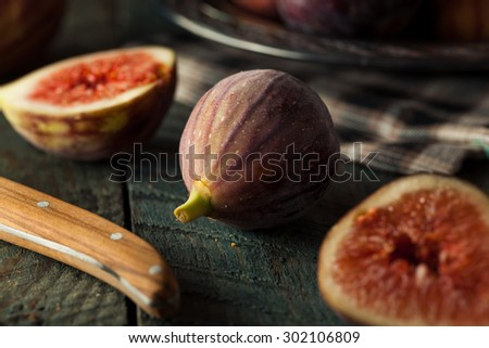 Raw Organic Brown Figs in a Bowl