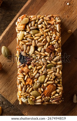 Raw Organic Granola Bars with Seeds and Nuts - stock photo