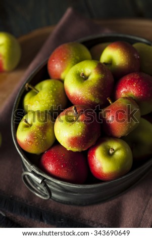Raw Organic Lady Apples for the Holidays - stock photo