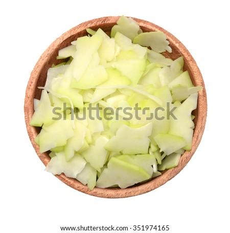 Raw papaya flesh - stock photo
